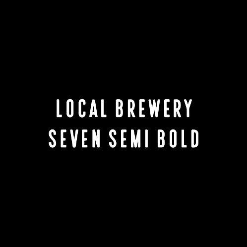 Local Brewery Seven Semi Bold Font - 1 User