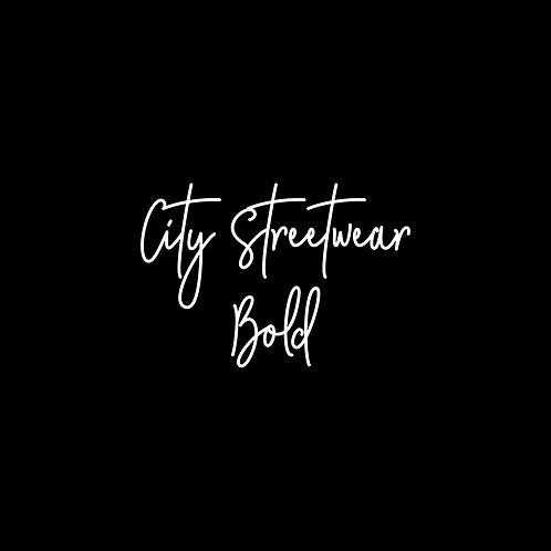 City Streetwear Bold Font - 1 User