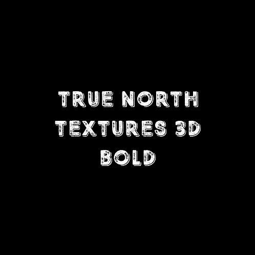 True North Textures 3D Bold Font - 1 User