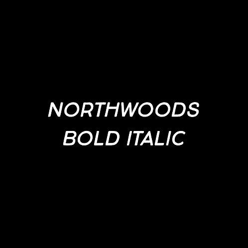 Northwoods Bold Italic Font - 1 User