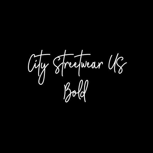 City Streetwear US Bold Font - 1 User