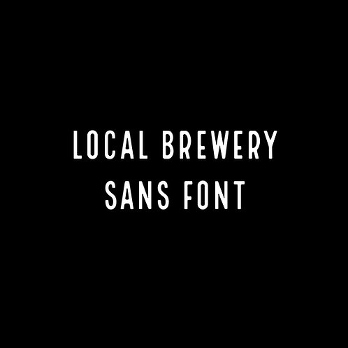 Local Brewery Sans (Eight) Font