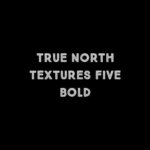 True North Textures Five Bold Font - 1 User