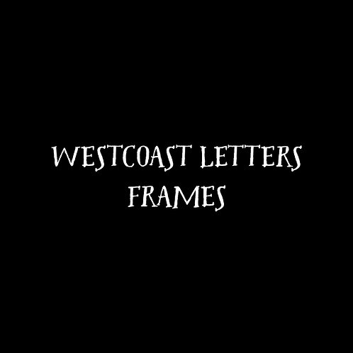 Westcoast Letters Frames Font  & Vector Art - 1 User