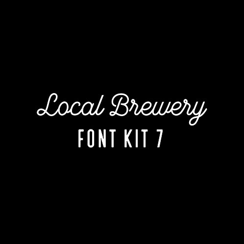 LOCAL BREWERY | SEVEN FONT KIT