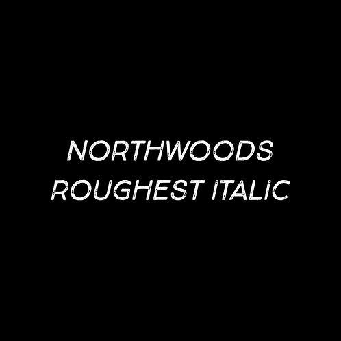 Northwoods Roughest Italic Font - 1 User