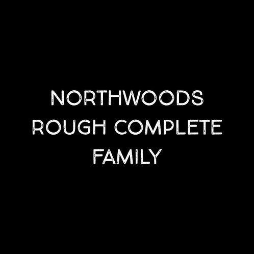 Northwoods Rough Complete Font Family - 1 User