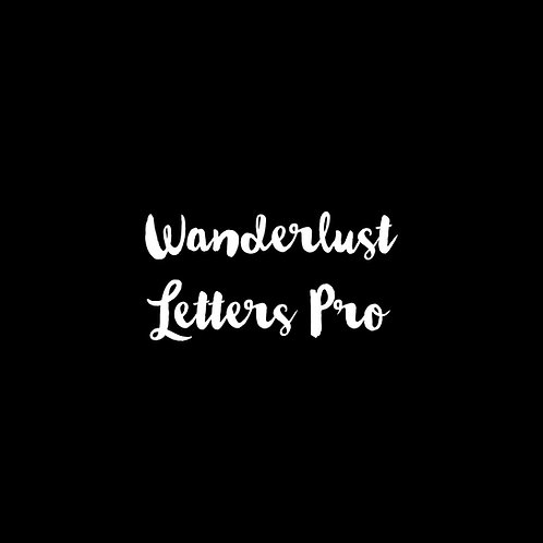 Wanderlust Letters Pro Font - 1 User