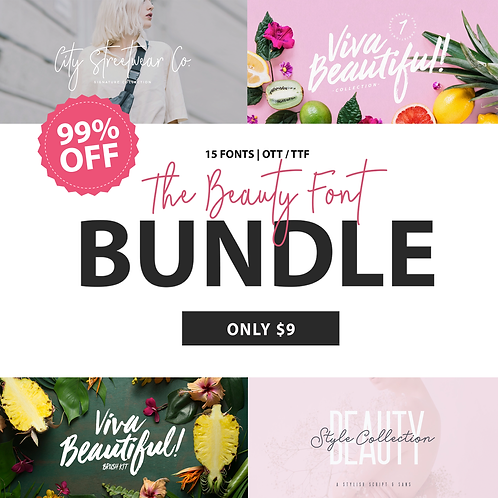 BEAUTY | FONT BUNDLE