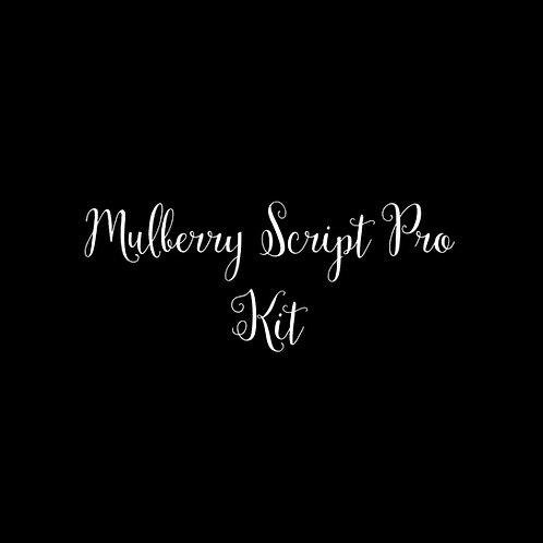 Mulberry Script Pro Font Kit - 1 User