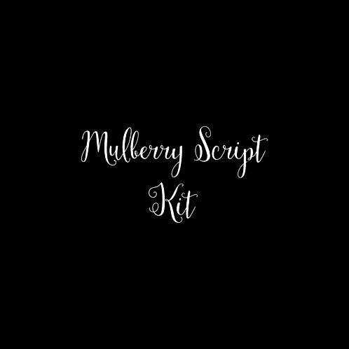 Mulberry Script Font Kit - 1 User