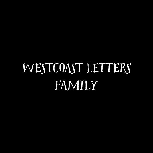 Westcoast Letters Font Family - 1 User