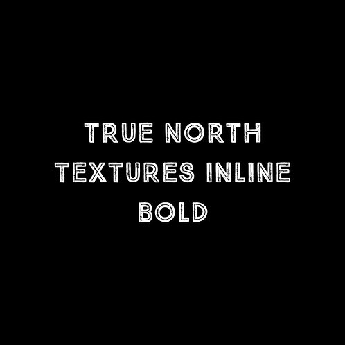 True North Textures Inline Bold Font - 1 User