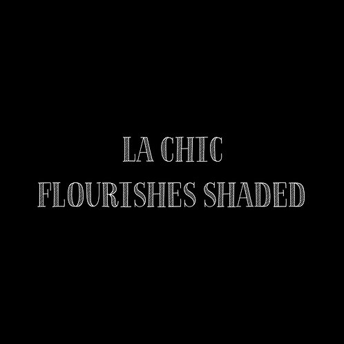 La Chic Flourishes Shaded Font & Vector Art - 1 User