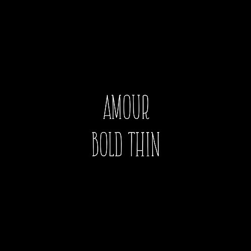 Amour Thin Bold Font - 1 User