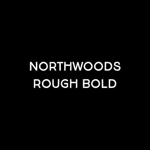 Northwoods Rough Bold Font - 1 User