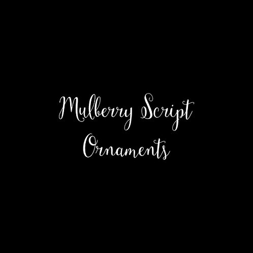 Mulberry Script Ornaments Font & Vector Art - 1 User
