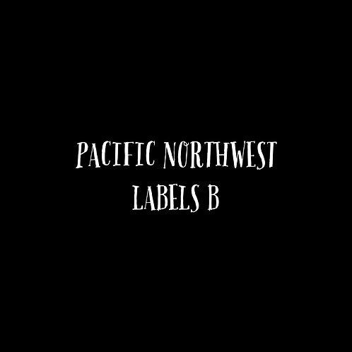 Pacific Northwest Letters Labels B Font & Vector Art - 1 User