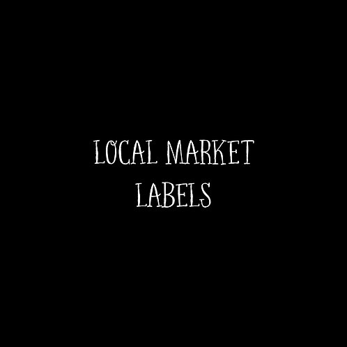 Local Market Labels Font & Vector Art - 1 User