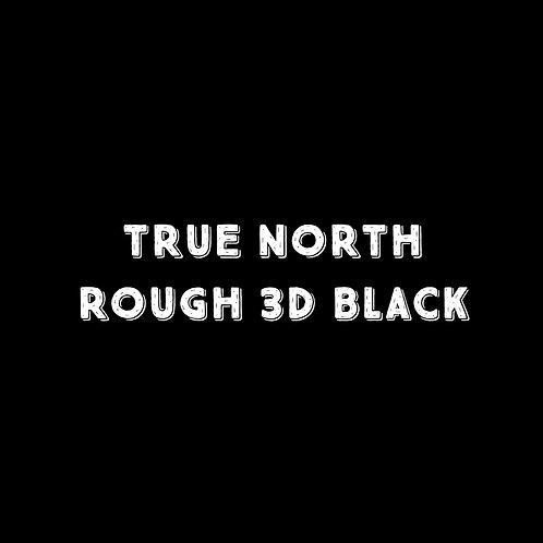 True North Rough 3D Black Font - 1 User