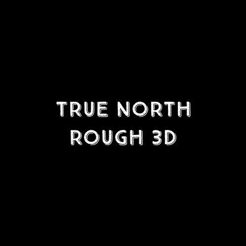 True North Rough 3D Font - 1 User