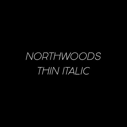Northwoods Thin Italic Font - 1 User