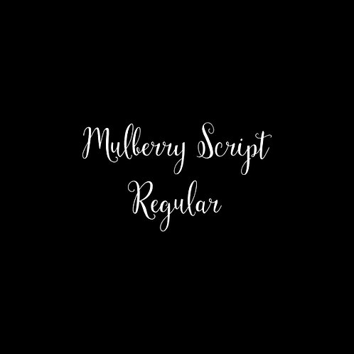 Mulberry Script Font - 1 User