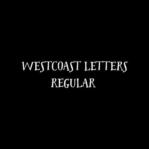 Westcoast Letters Font - 1 User