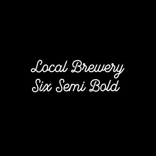 Local Brewery Six Semi Bold Font - 1 User