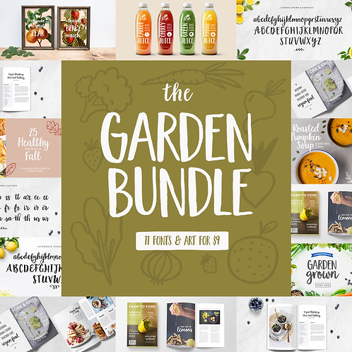 GARDEN GROWN | FONT BUNDLE