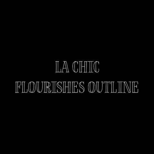 La Chic Flourishes Outline Font & Vector Art - 1 User