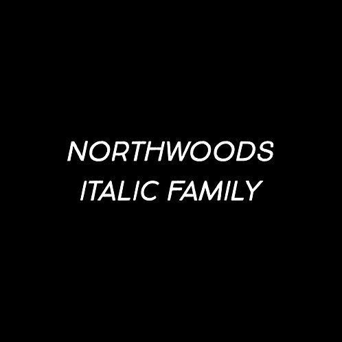 Northwoods Italic Font Family - 1 User