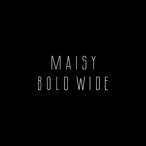 Maisy Bold Wide Font - 1 User