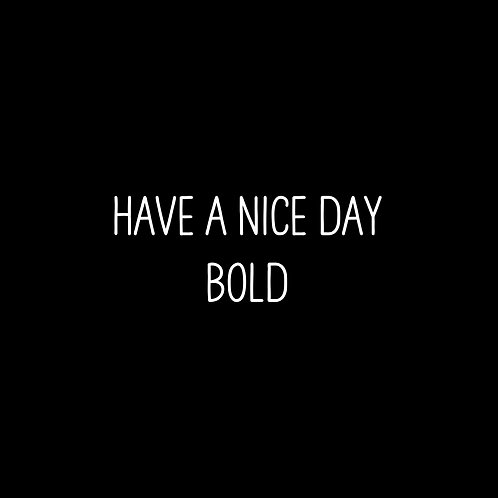 Have A Nice Day Basic Bold Font - 1 User