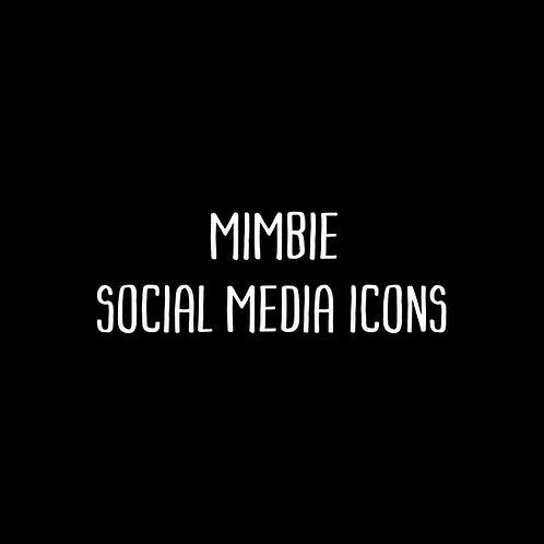 Mimbie Social Media Icons Font & Vector Art - 1 User