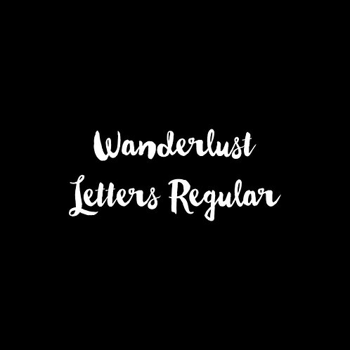 Wanderlust Letters Regular Font - 1 User
