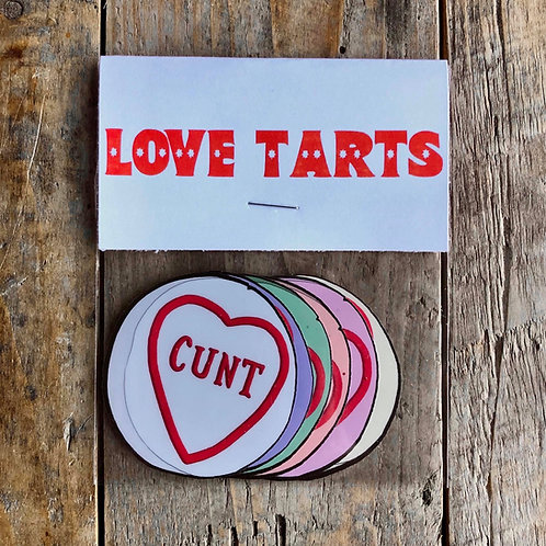 Love Tarts Stickers (6 pack)