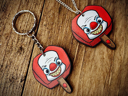 Penny Wice Horror Pop Wooden Laser Cut Charm (Necklace or Keyring)