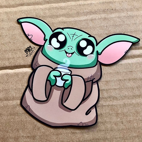 Baby Yoda Vinyl Sticker