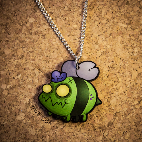 ZomBEE Wooden Laser Cut Necklace or Keyring