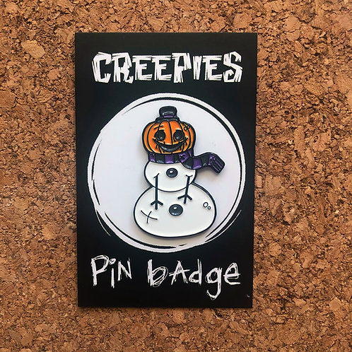 Jack-O Snowman Soft Enamle Pin Badge