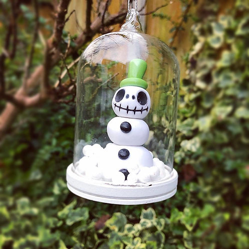 Jack Skellington Snowman Belljar Ornament