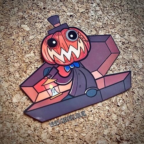 Jack-O coffin vinyl sticker