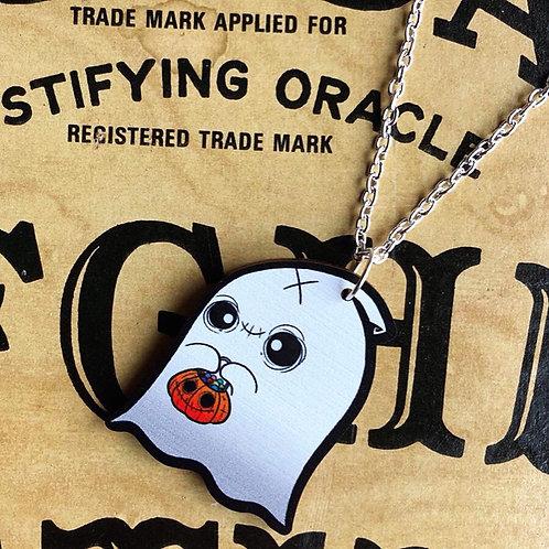 Spook Wooden Laser Cut Necklace or Keyring