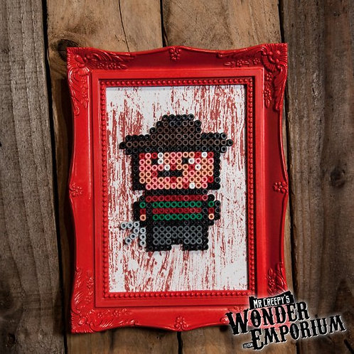 Freddy Krueger Bead Art Frame By Mini Creepy