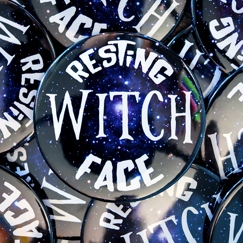 RESTING WITCH FACE Pocket Mirror