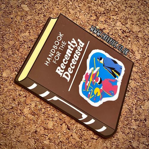 Handbook for the recently deceased vinyl sticker