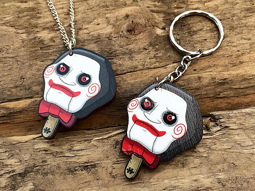 HORROR POPS - Chilly Wooden Laser Cut (Necklace or Keyring)