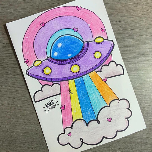 A5 U.F.O Pencil Drawing