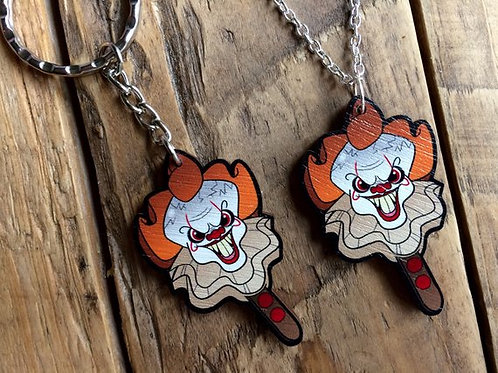 Horror Pops - PennywICE wooden laser cut necklace or keychain